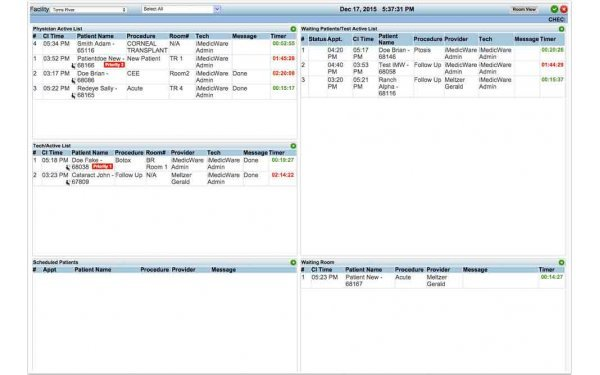Patient monitor dashboard