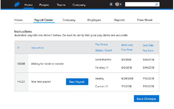 Payroll center