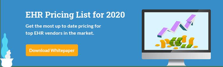 EHR Pricing List