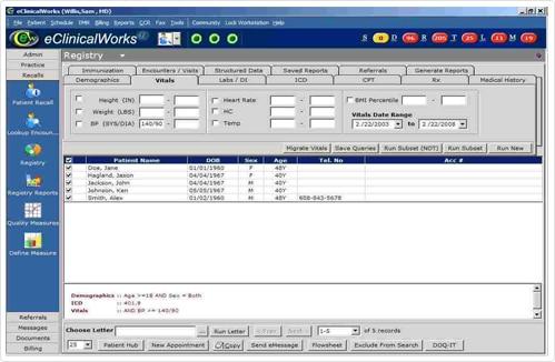 eClinicalWorks EHR software