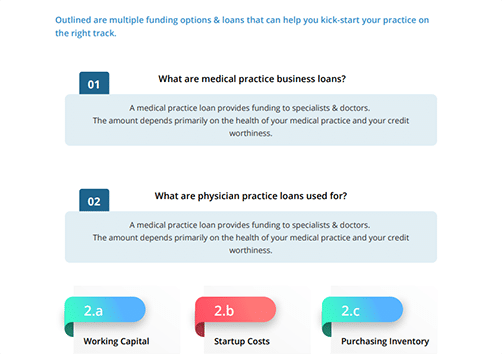 What are medical practice business loans