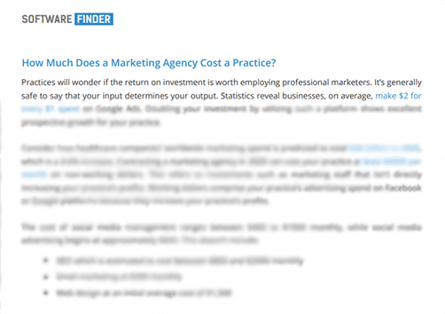 cost of marketing agency