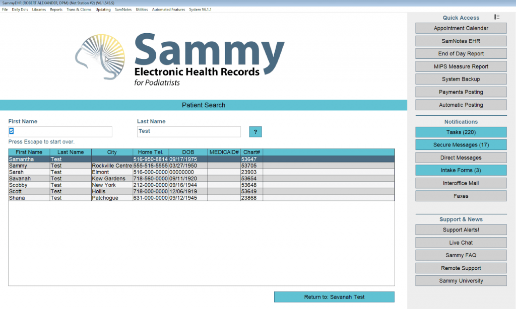SammyEHR Podiatry EMR